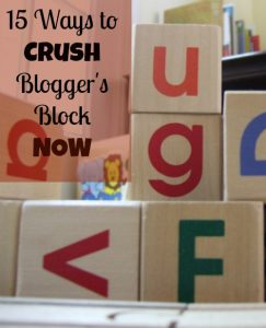 how to overcome blogging blocks