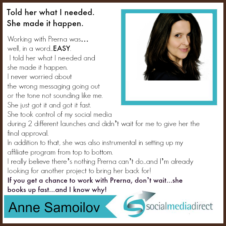 Anne Samoilov Testimonials
