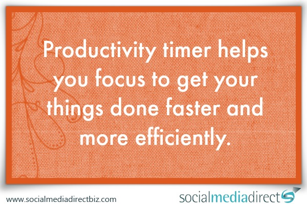 Productivity timer