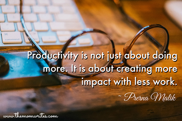 Productivity is not just about