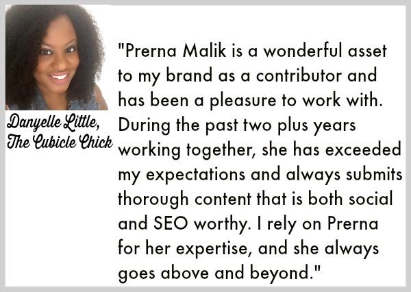 business blogging testimonial