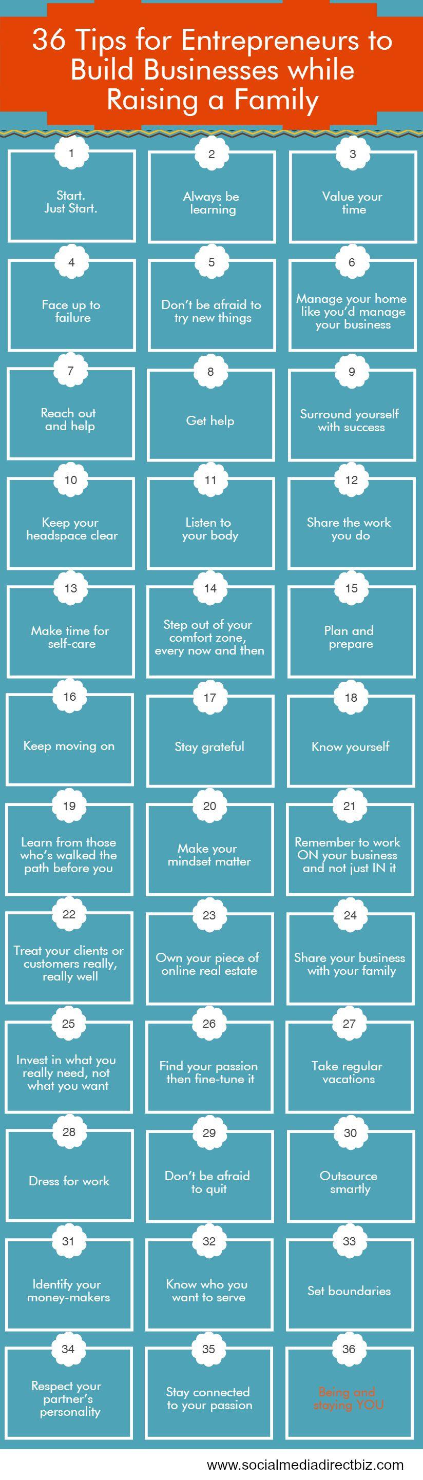 36 Tips for Entrepreneurs