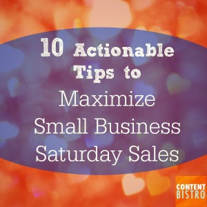 Holiday Marketing Tips 10 Actionable Tips to Maximize Small Business Saturday Sales
