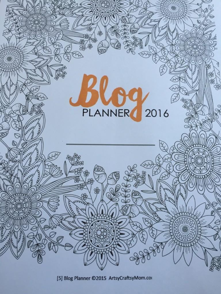 Artsy Craftsy Blog Planner