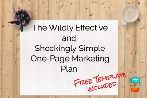 The One Page Marketing Plan Template