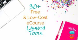 30+ Free and Low Cost eCourse Launch Tools Facebook