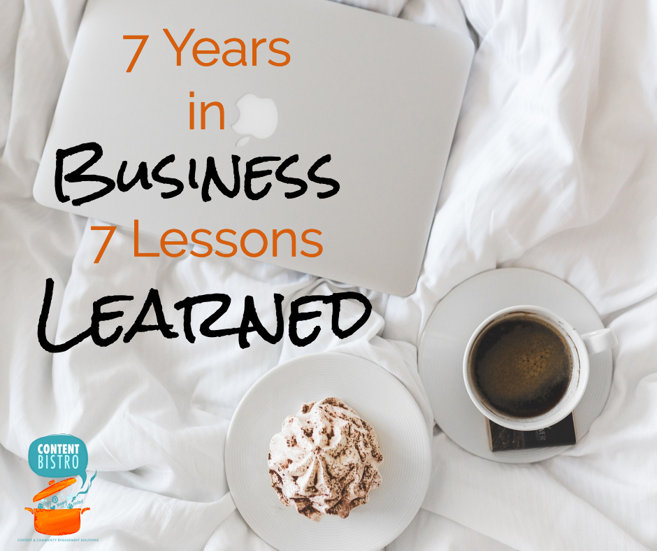 7 Entrepreneur Lessons Learned in our 7th Year of Business